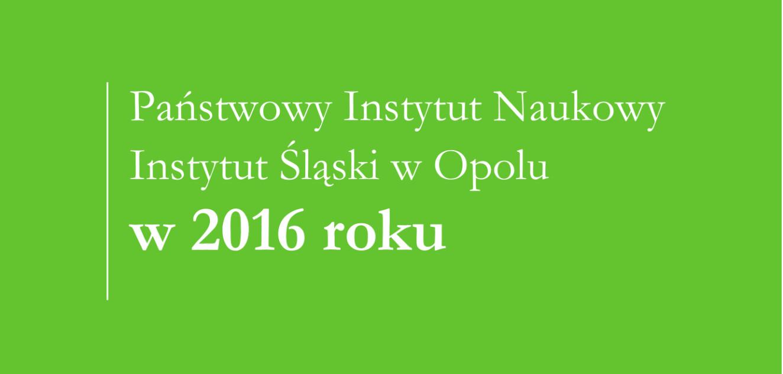 Sprawozdanie 2016