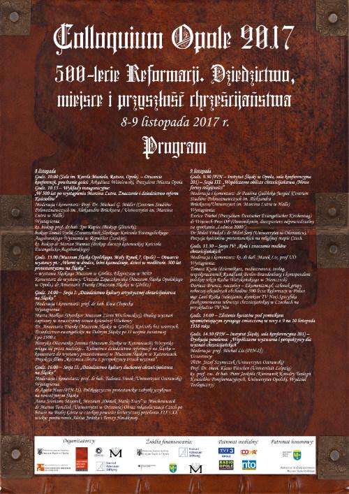 Plakat konferencji Colloquium Opole 2017