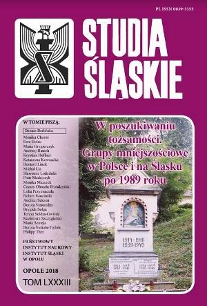 Okładka czasopisma Studia Śląskie, tom 83