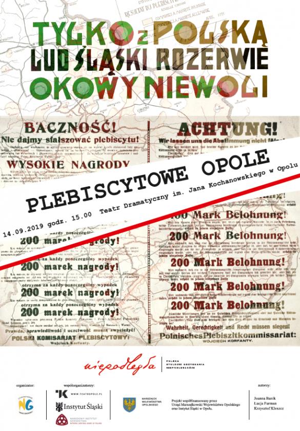 Plakat promocyjny Plebiscytowe Opole