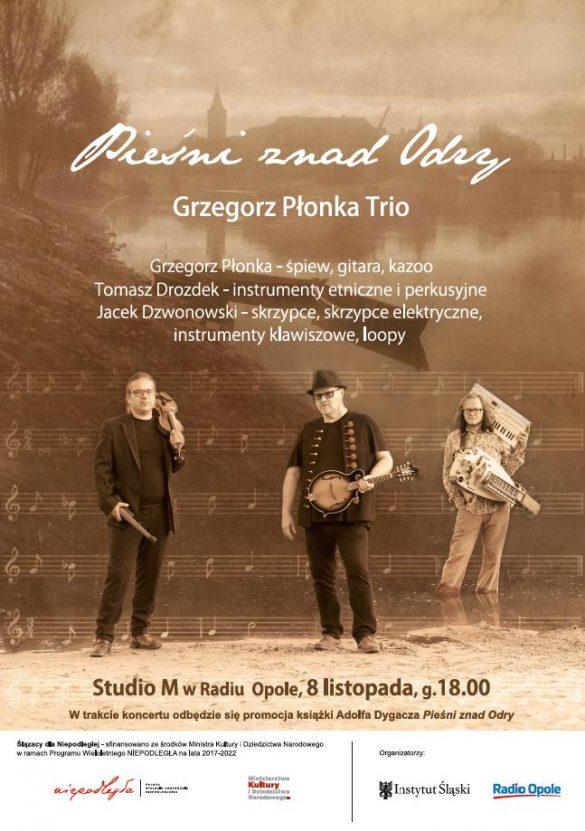 Koncert Pieśni znad Odry - Plakat promujący wydarzenie z 08.11.2019