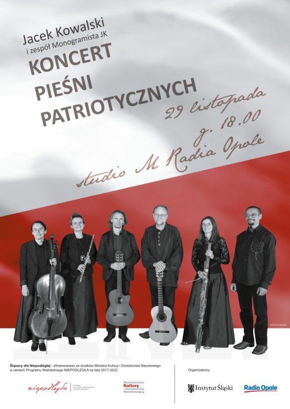 Plakat promujący Koncert Pieśni Patriotycznych 29. listopada 2019 r.