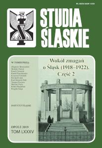 Okładka czasopisma Studia Śląskie - tom 85