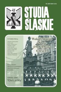 Okładka czasopisma Studia Śląskie - tom 84