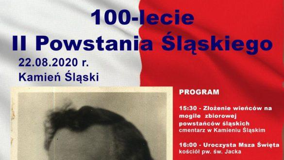 Nagłówek plakatu promującego obchody 100-lecia II Powstania Śląskiego