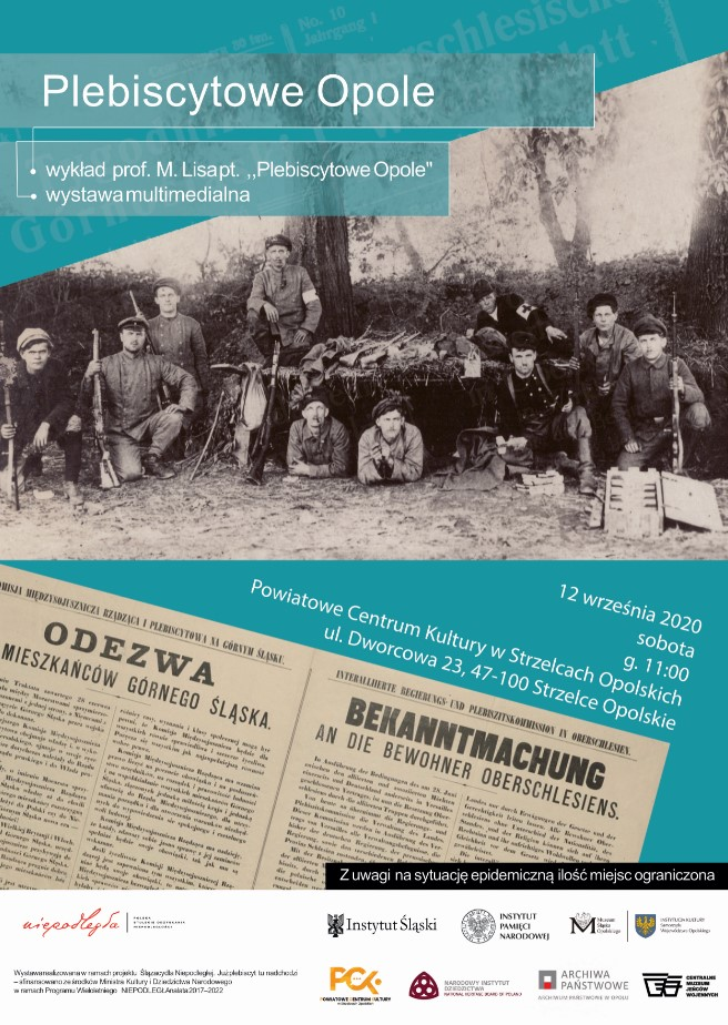 Miniatura plakatu promującego wystawę Plebiscytowe Opole