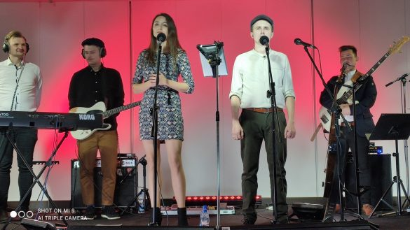 Zespół The Dziemians na scenie