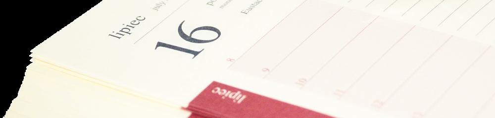 zdjęcie kalendarza - charakter dekoracyjny