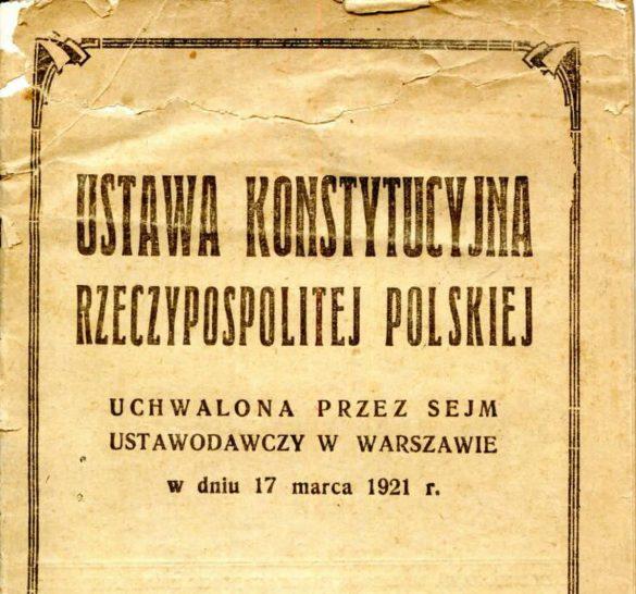 Strona tytułowa konstytucji marcowej