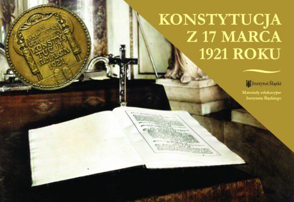Pierwsza strona materiałów edukacyjnych Instytutu Śląskiego nt. Konstytucji marcowej - obrazek o funkcji dekoracyjnej