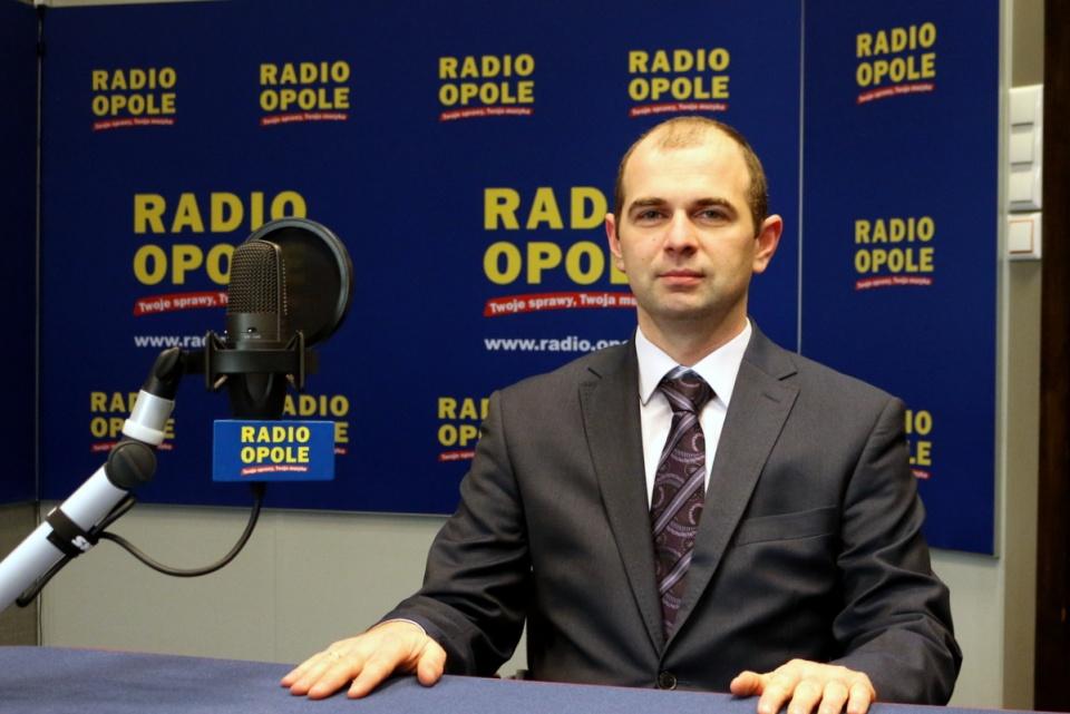 dr Marek Mazurkiewicz w Radio Opole - fot. Barbara Więcek
