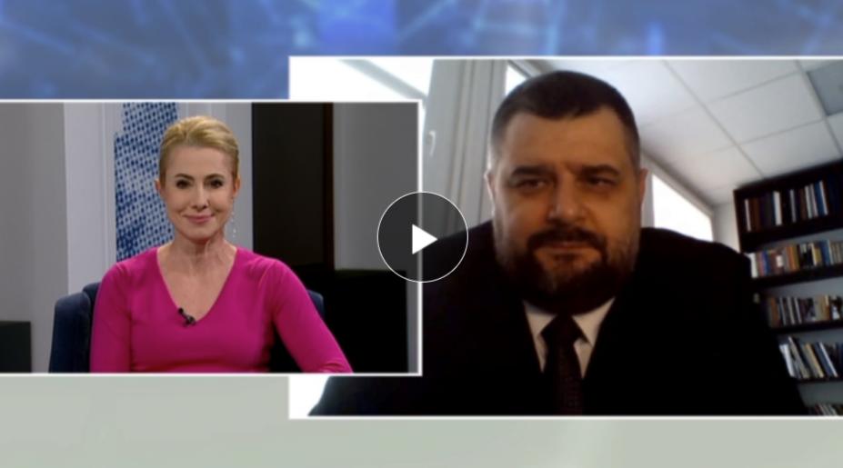 """Kadr z programu """"Rozmowa Dnia"""" TVP3 Opole"""