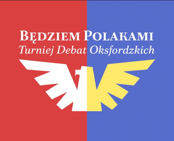 """Logo Turnieju Debat Oksfordzkich """"Będziem Polakami"""""""